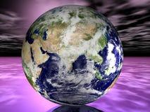 Satélite na órbita Foto de Stock
