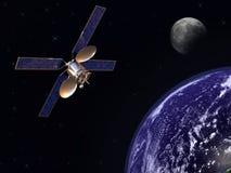 Satélite na órbita de terra ilustração royalty free