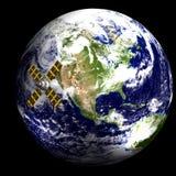 Satélite na órbita - EUA Foto de Stock Royalty Free