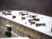 Satélite no telhado imagens de stock