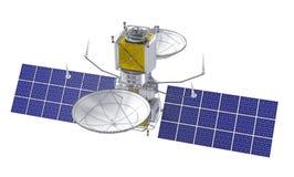 Satélite que se mueve en órbita alrededor ilustración del vector