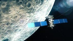 Satélite realista en órbita baja de la luna libre illustration