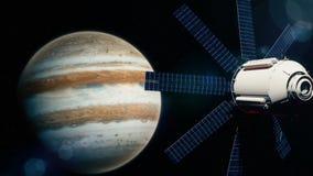 Satélite realista en la órbita baja de Júpiter libre illustration
