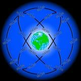 Satélites del espacio Imagen de archivo libre de regalías