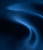 Satén azul Imagen de archivo libre de regalías