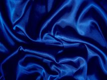 Satén azul Fotografía de archivo