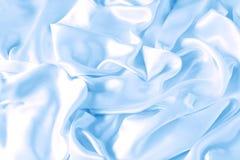 Satén azul Imágenes de archivo libres de regalías