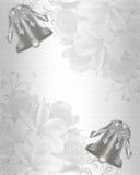 Satén elegante de la invitación de la boda Foto de archivo libre de regalías