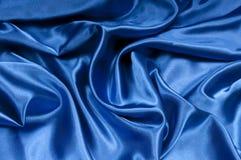 Satén en serie azul Foto de archivo libre de regalías