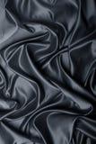 Satén negro Imagen de archivo libre de regalías