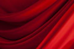 Satén rojo Foto de archivo