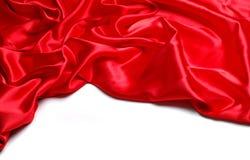 Satén rojo Fotografía de archivo libre de regalías