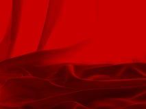 Satén rojo Fotografía de archivo