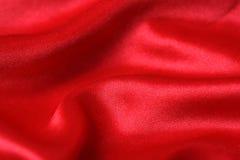 Satén rojo Fotos de archivo libres de regalías