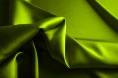 Satén verde Fotos de archivo