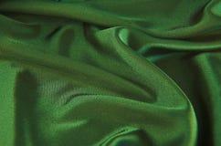 Satén verde Foto de archivo