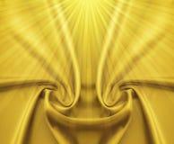 Satén y rayos de oro Foto de archivo libre de regalías
