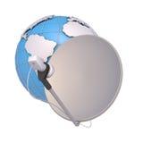 SAT e globo Immagine Stock Libera da Diritti