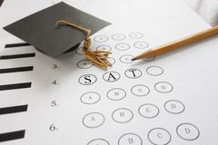 SAT exam Royalty Free Stock Photos