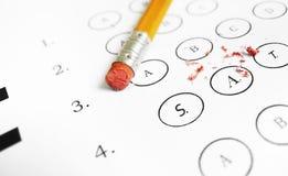 SAT multiple choice exam Stock Photos
