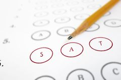 SAT test sheet Royalty Free Stock Image