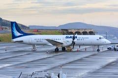 SATA śmigłowy samolot Zdjęcia Royalty Free