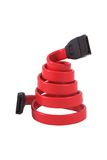 SATA Cable. Red SATA cable twisted in spring Royalty Free Stock Image