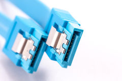 SATA cable blue Royalty Free Stock Images