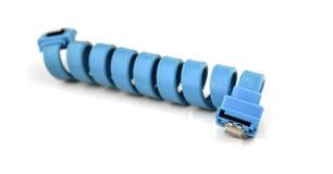 Sata cable blue. On white background Stock Image