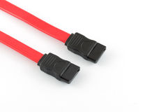 Sata cable white background. Serial Royalty Free Stock Photos