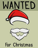 Sata Claus Wanted For Christmas Poster Stock Photography