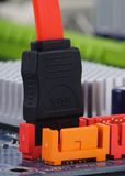 SATA conectado às portas interal Foto de Stock Royalty Free