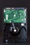 Sata hdd hard disc drive on black background closeup.  Royalty Free Stock Photos
