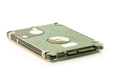 SATA HDD särar den hardrive datoren närbild som isoleras på vit Arkivfoton
