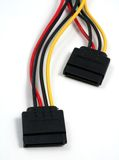 SATA power cables horizontal Stock Image