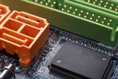 SATA socket Royalty Free Stock Photo