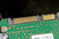 SATA-Verbindungsstück Festplatte des Laptops Stockbild