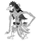 Satabali. A character of traditional puppet show, wayang kulit from java indonesia stock illustration