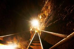 Foto sotterranea in una caverna fotografia stock libera da diritti