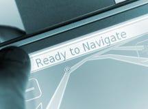 Satallite navigation stock image