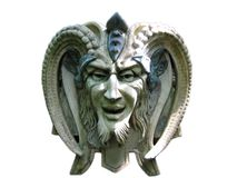 satan Diabo sculpture Foto de Stock Royalty Free