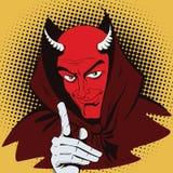 Satan erinnert über Halloween Lizenzfreie Stockfotografie