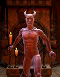 Satan in front of a Shrine. 3D Rendering Satan in front of a Shrine Royalty Free Stock Image