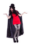 Satan halloween concept isolated. On white Royalty Free Stock Images