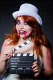Satan halloween concept with movie Stock Photography