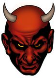 Satan head vector illustration