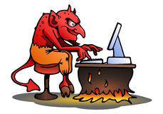 Satan on isolated white Stock Images