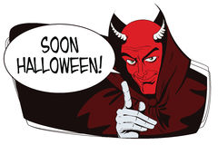 Satan reminds about Halloween. Stock Photo