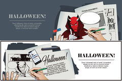 Satan reminds about Halloween. Stock Photos