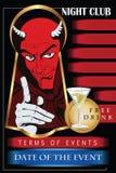 Satan reminds about Halloween. Stock Photo